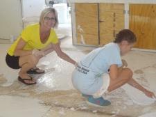 Navajo 7 - Erin plastering kitchen floor
